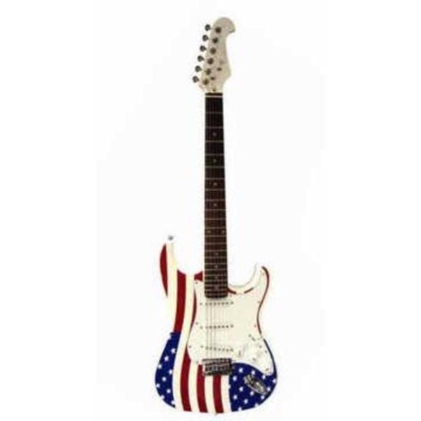 Guitarra Stratocaster Humbucker Sts002 Eagle Us Flag